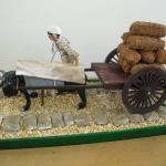 牛車と車石模型