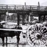 橋下の牛車