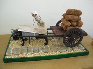 牛車と車石模型(真田孝男氏製作)